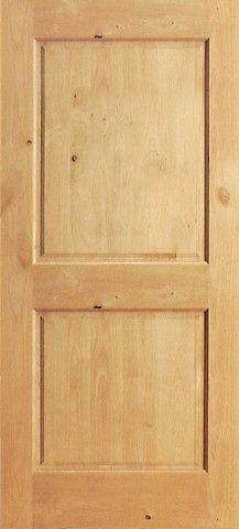 S W 97 Interior Knotty Alder 2 Panel Single Door Single Doors Doors Interior Knotty Alder Doors