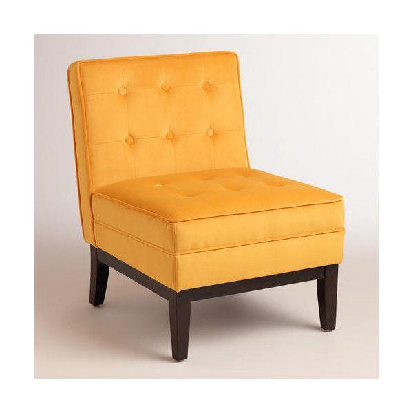 Cost Plus World Market Mango Yellow Kaylor Chair