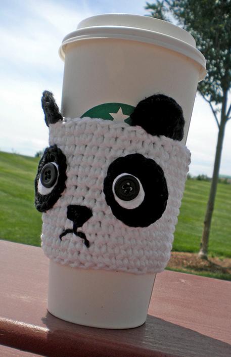 Panda Coffee Cozy Crochet Pattern | Crocheteando | Pinterest ...