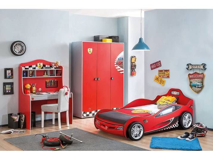 Kinderzimmer Komplett Race 3teilig mit Autobett Kids