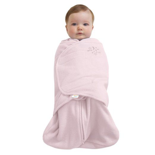 Amazon.com: HALO SleepSack Micro-Fleece Swaddle, Soft Pink, Small: Baby.  A few of these will be nice since they'll be newborns in the winter.