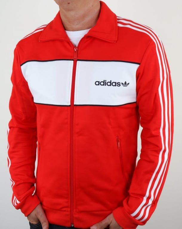 Adidas Originals Block Track Top Core Red Tracksuit Jacket Mens