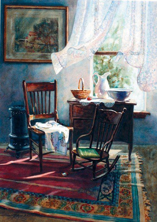 Sonya Terpening (1954, American). Art InteriorsArt PaintingsVintage ...