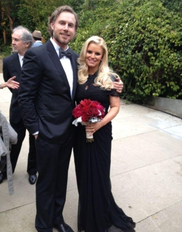 Jessica Simpson And Eric Johnson Attend Friend S Wedding In Los Angeles Marital Muse Pinterest Latest Showbiz News