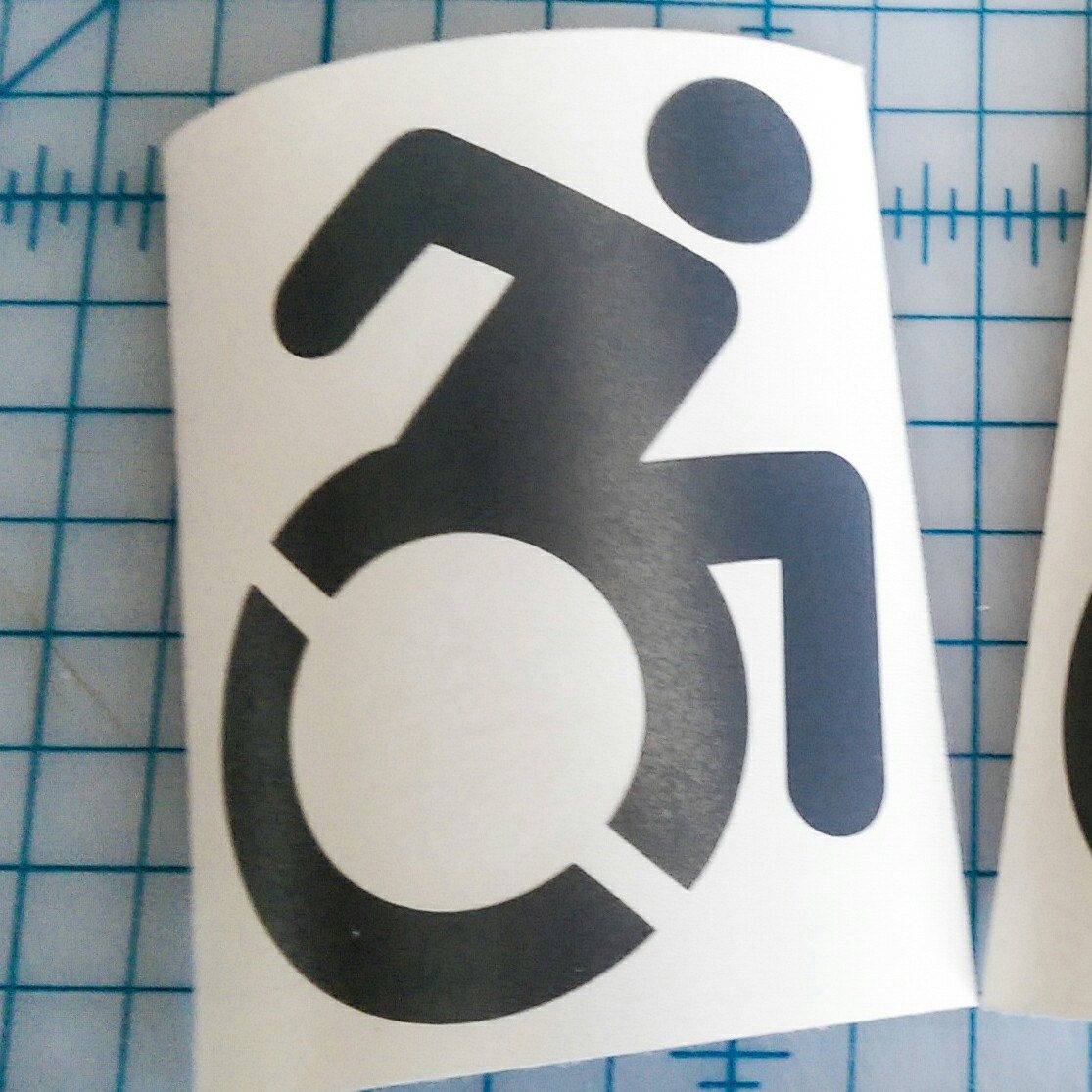 Modern Disabled Symbol Decal Wheelchair Access Sticker Ada Etsy Retro Reflective Handicap Accessories Laptop Decal [ 1115 x 1115 Pixel ]
