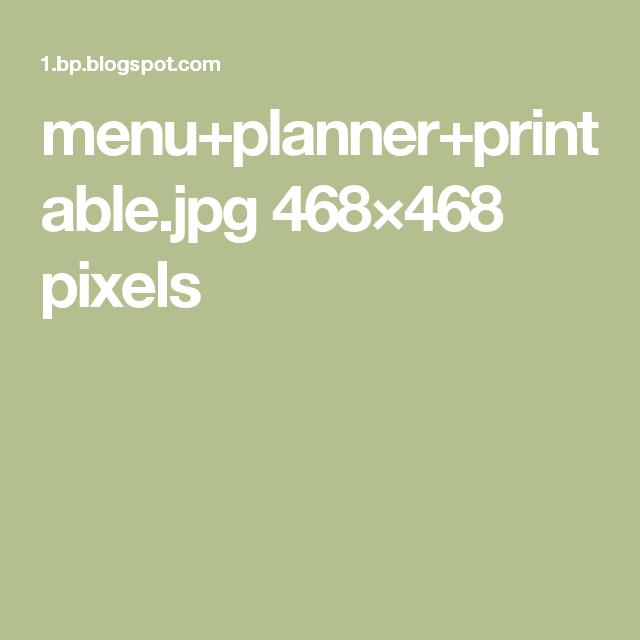 menu+planner+printable.jpg 468×468 pixels
