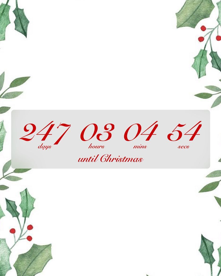 How Many Days Till Christmas 2019.How Many Hours Until Christmas 2019 Christmas Decorating 2019