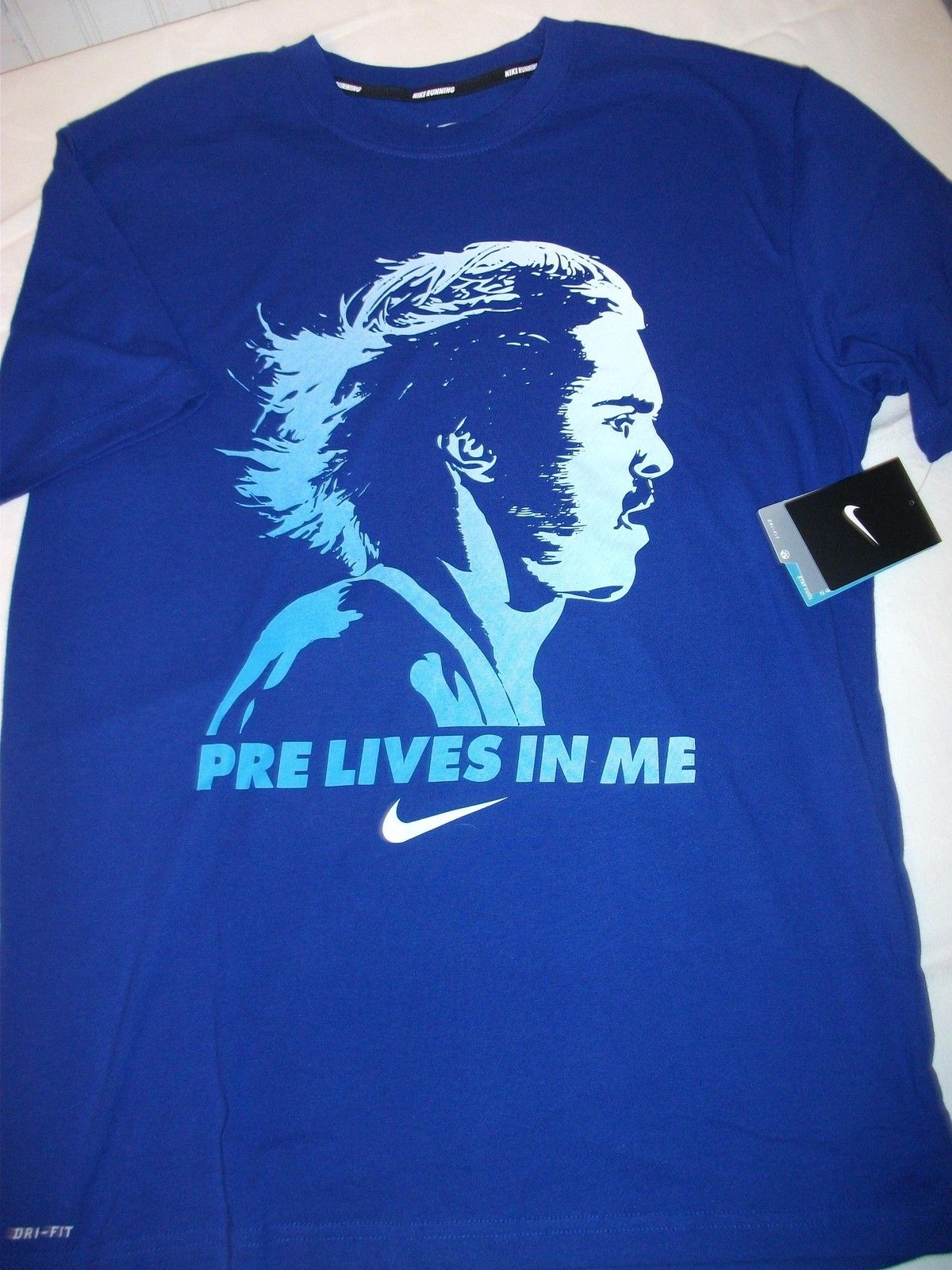 b872c43a Nike PRE LIVES IN ME Steve Prefontaine Oregon Dri-Fit MENS Running Shirt  SIZE M | eBay