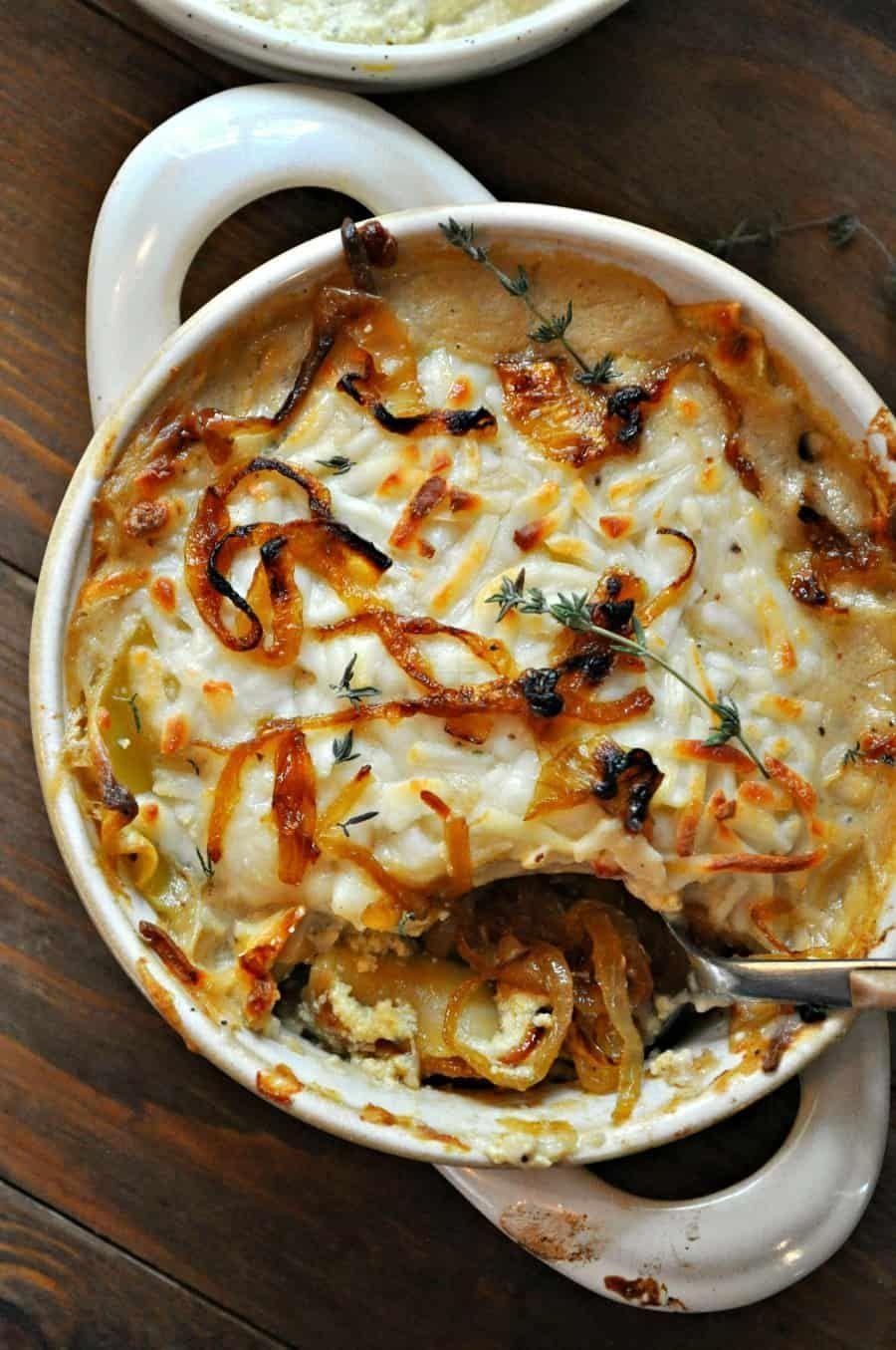 #healtyfood Vegan French Onion Lasagna  Rabbit and Wolves
