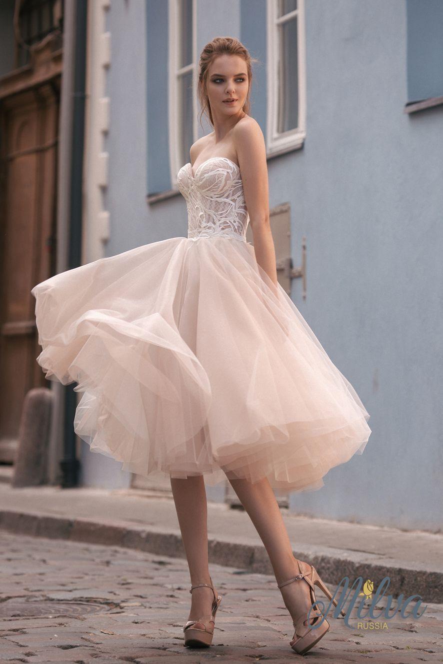 Pink and ivory wedding dress  Свадебные платья  Свадебная мода MILVA Wedding gowns Wedding