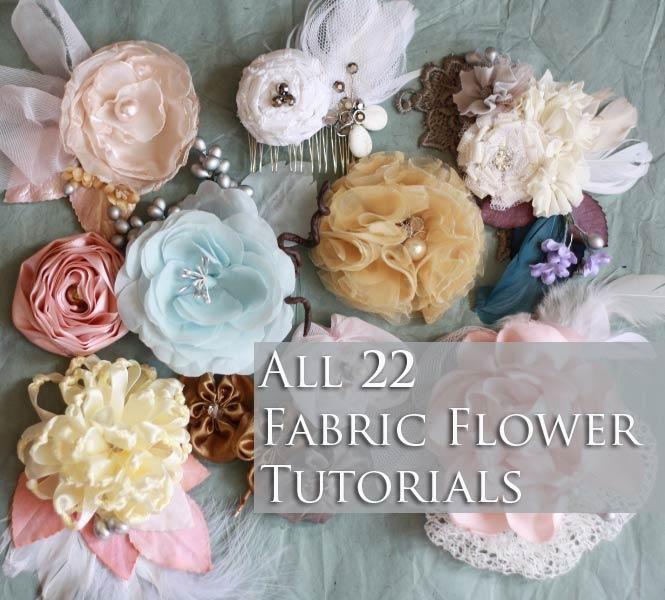 Fabric Flower Tutorial Knotted Chrysanthemum, Ribbon ...   Fabric Hair Flowers Tutorial