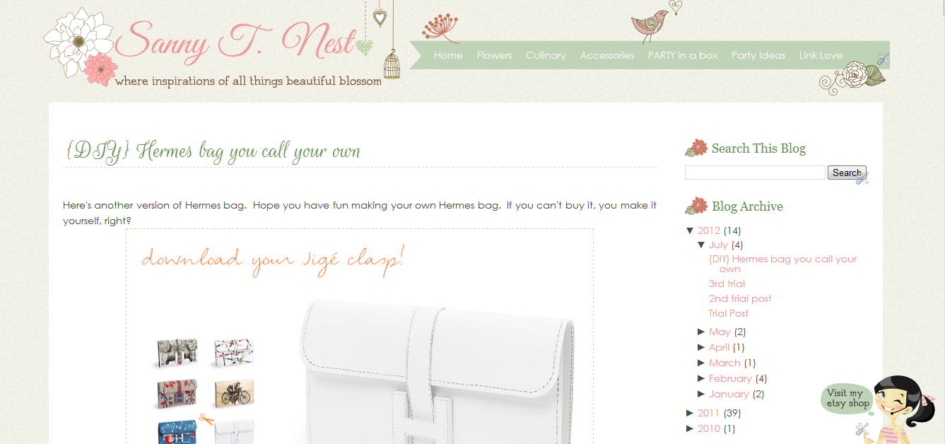 Sanny T Blogger Template Design | Ipietoon-Cute Blog Design ...