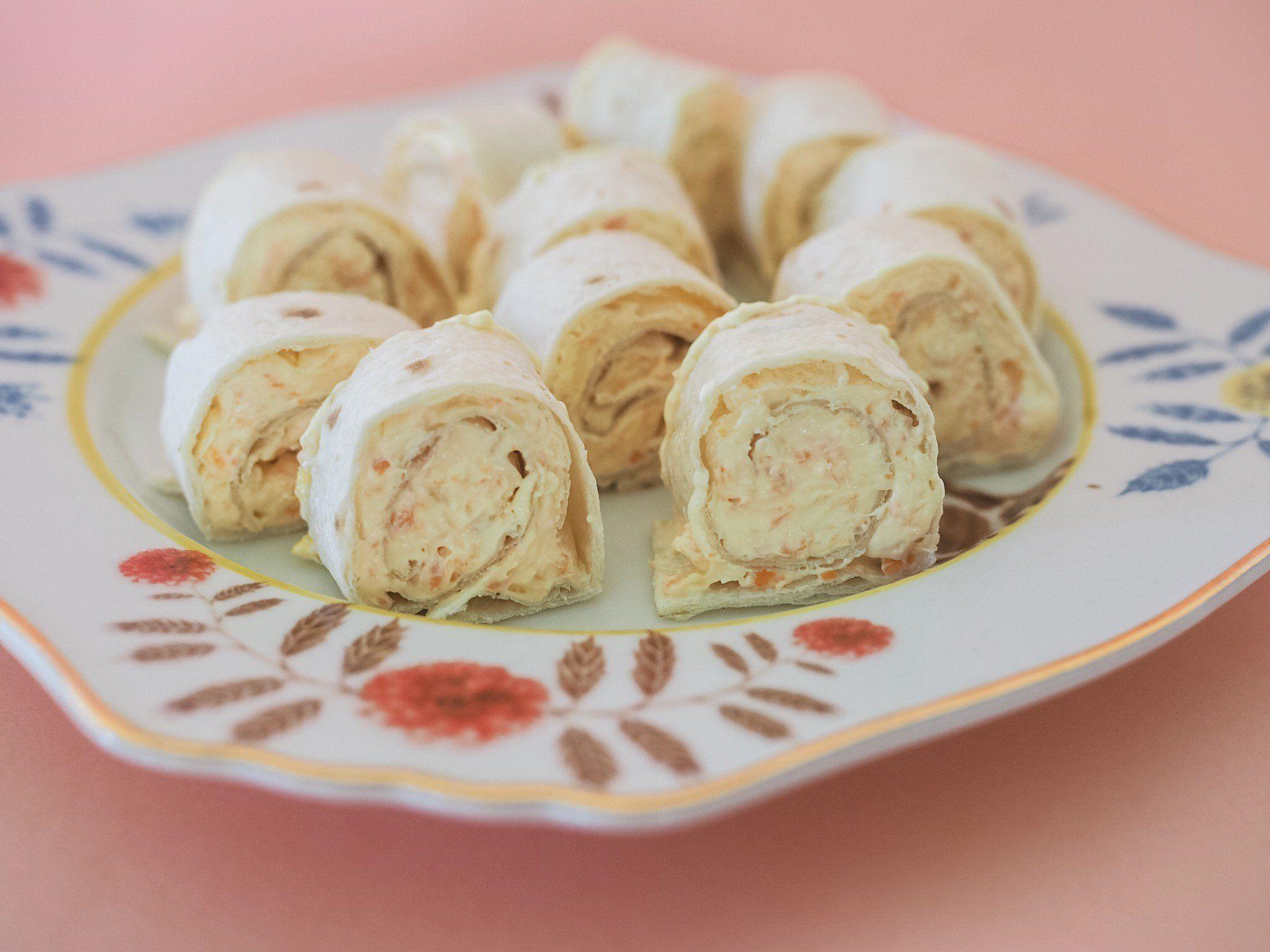Carrot cream cheese pinwheels recipe pinwheel recipes