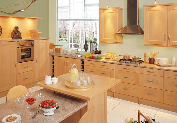 Best Sasi Designer Fitted Kitchens Present The Shaker Beech 400 x 300