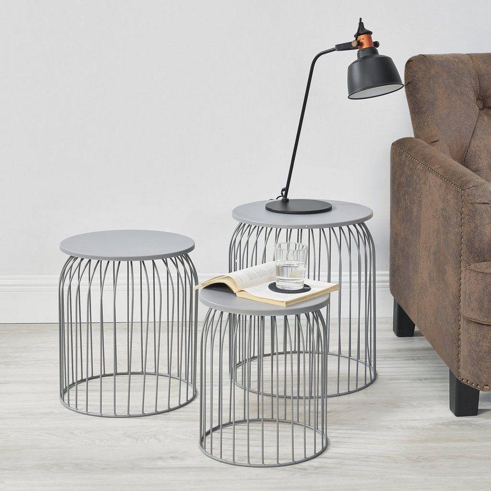 En Casa Beistelltisch Amherst 3er Set Couchtisch In Verschiedenen Grossen Hellgrau Online Kaufen Otto In 2020 Beistelltisch Metallkorb Nordisches Wohnzimmer Beistelltisch