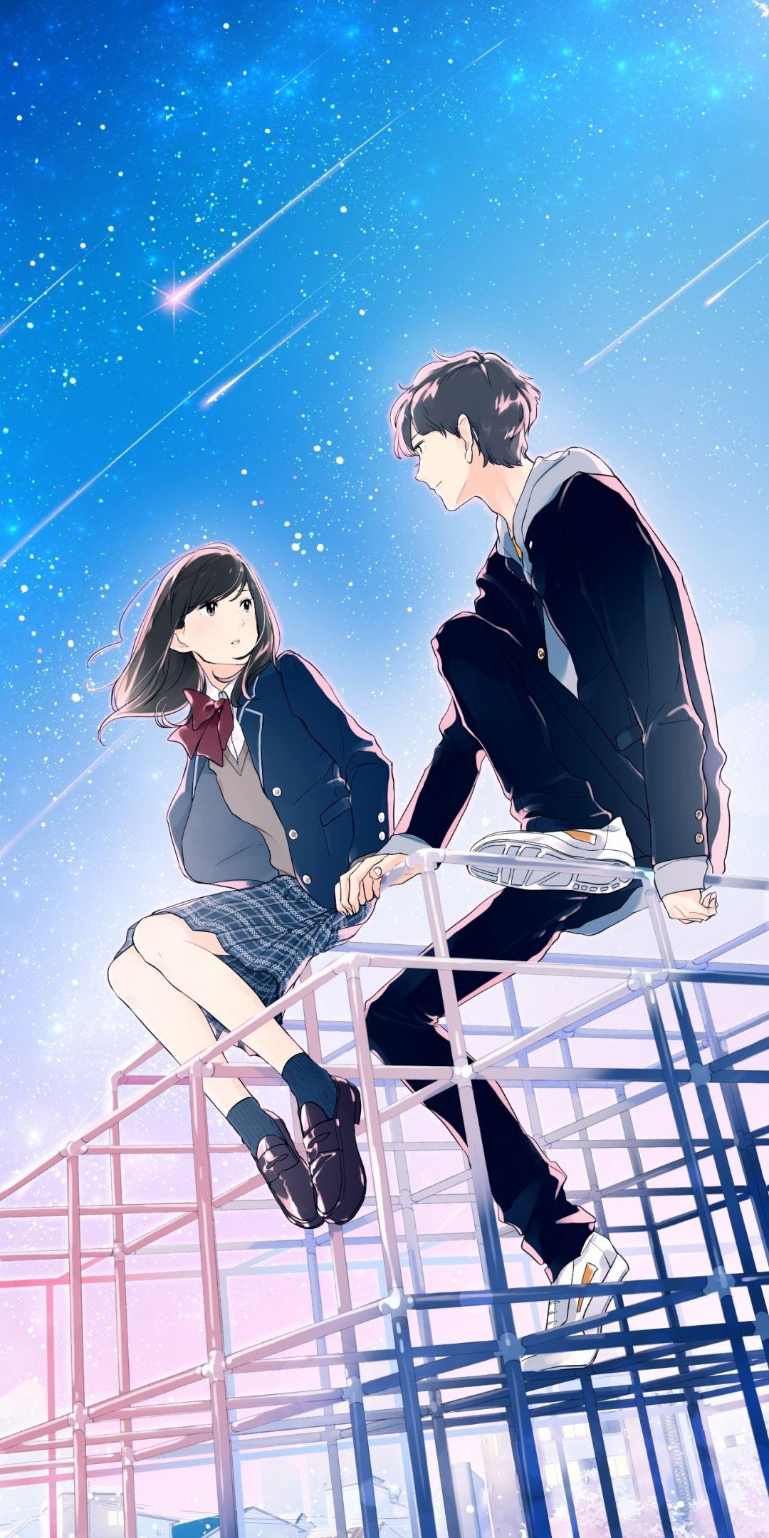 Friends, anime, original, 1080x2160 wallpaper