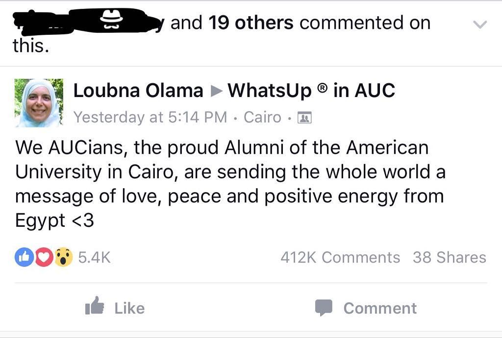 AUCians (American university in cairo) have gathered around a Facebook group to attempt break the Guinness book of records for maximum posts within a day 377000. They broke the record by more than 400000 in one day. We'll see how the story develops but chapeau AUCians! #ELMENS  #facebook #facebookpage #facebooksucks #instagram #wethepeople #votersuppression #vote #stoppromotingfracking #stillsanders #rhodeisland #pennsylvania #oligarchy #nother #nooffshoredrilling #nofracking #maryland…