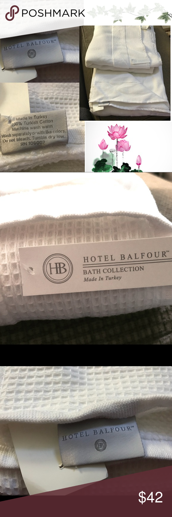 Set Of Two Large Bath Towels White Hotel Balfour Set Of Two