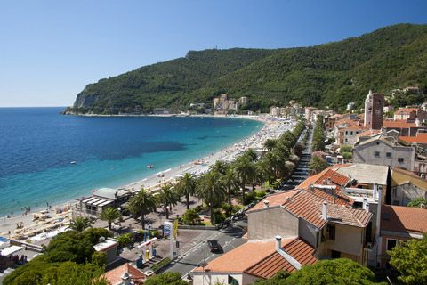 Noli Italy Is A Beach Resort And Medieval Village In Western