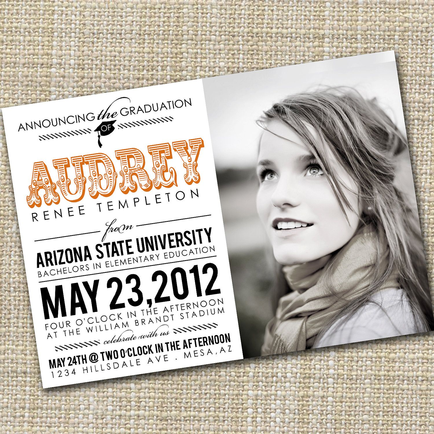 use cool modern photo graduation announcements as inspiration for senior ad designs