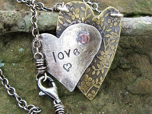 Custom Made Drawn To Art™ Heart Necklace