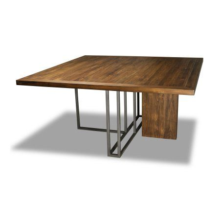 South Cone Home Highmount Square Dining Table 72 Inch Top Cognac