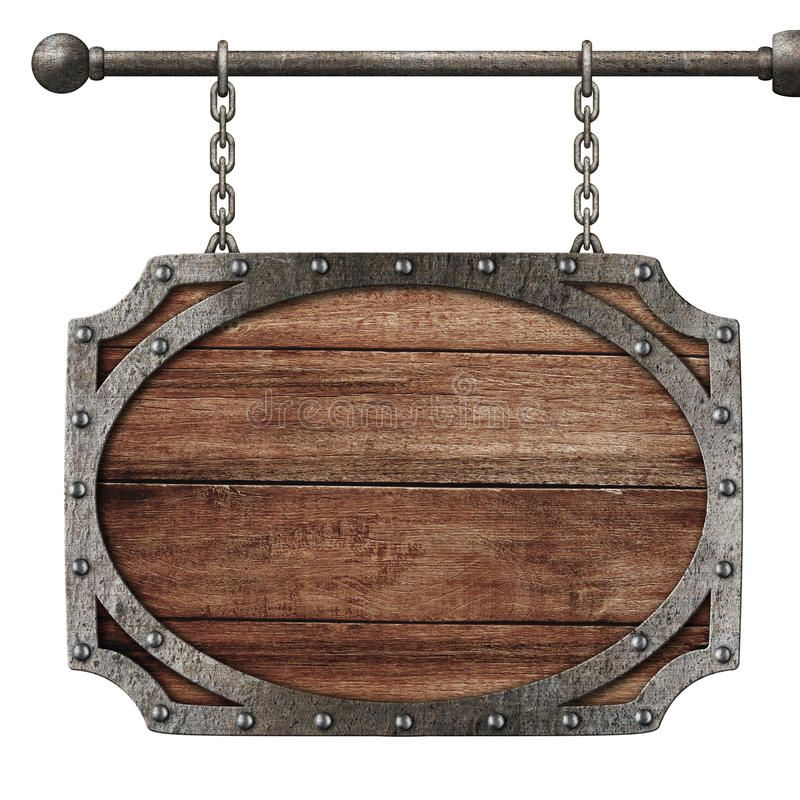 Medieval Wooden Sign Hanging On Chains Isolated On White Sponsored Sign Wooden Medieval Hanging White Ad Hanging Signs Wooden Signs Wooden