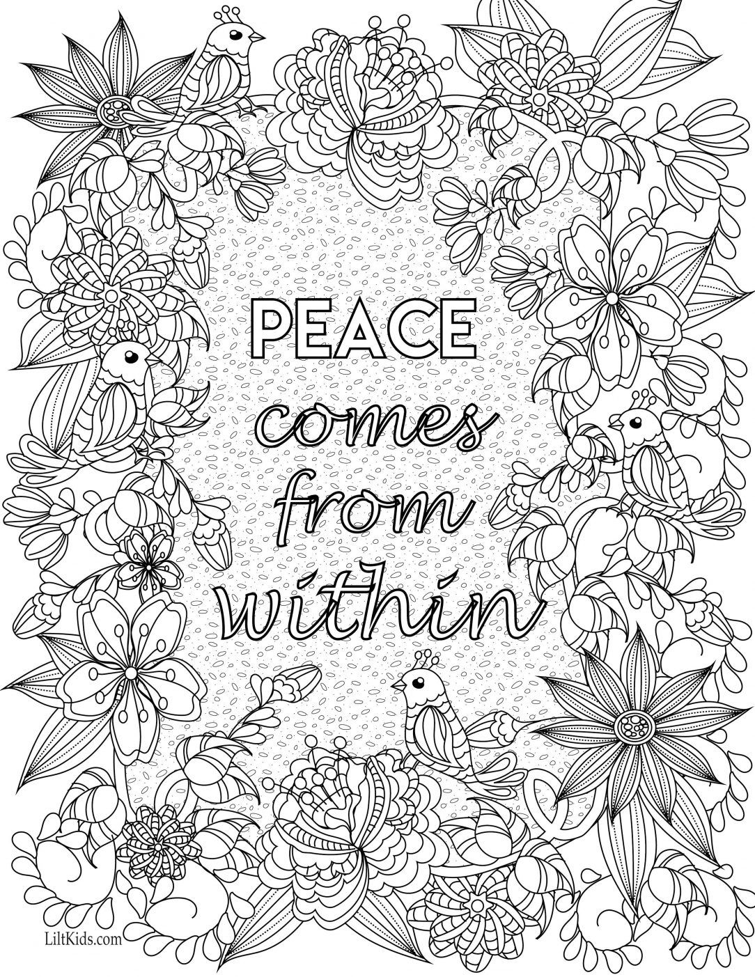 - Coloring Pages Of Dogs Mandala With Quotes Pdf Kids Coloring