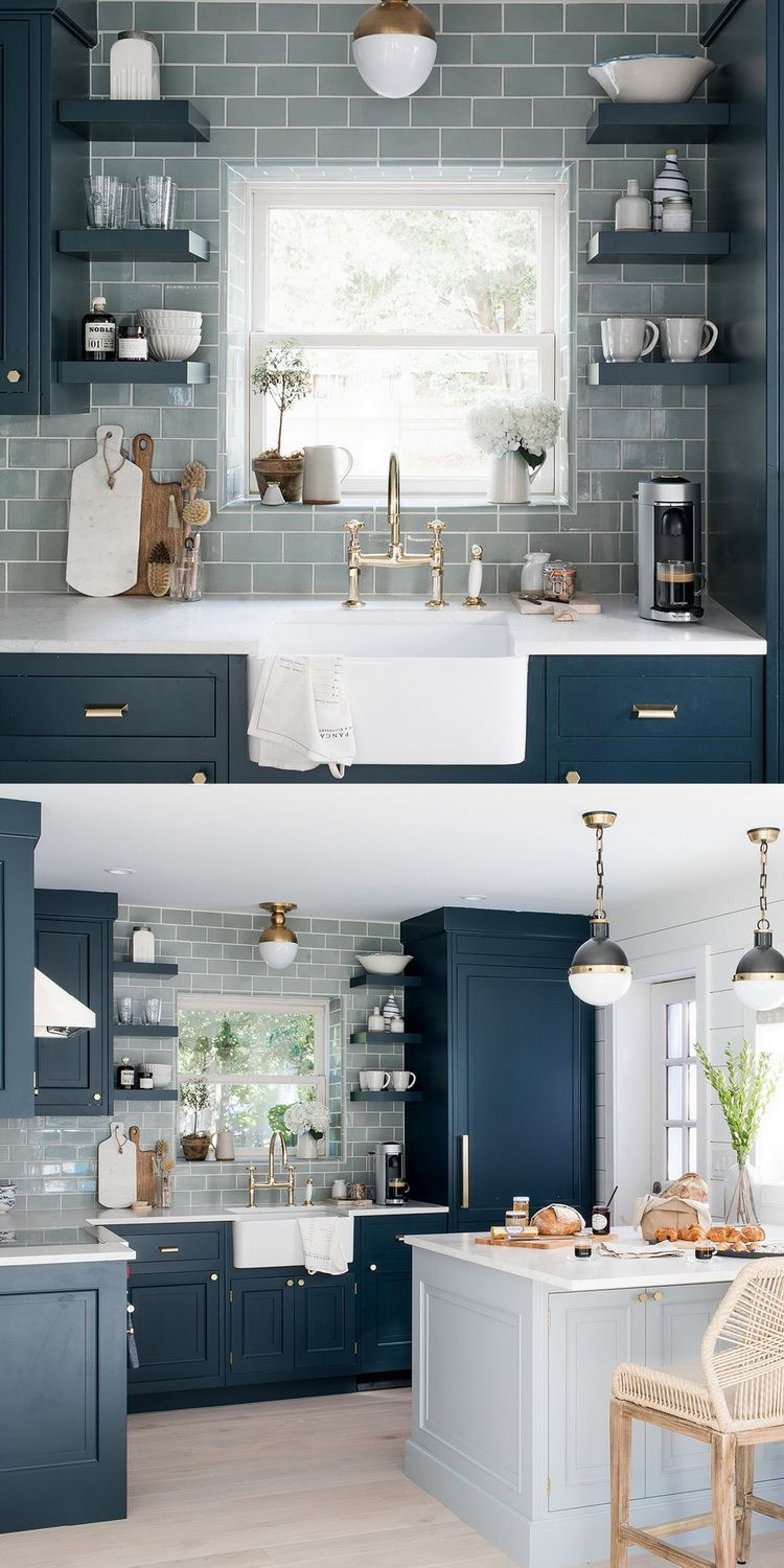Kitchen Cabins Deep Blue Kitchen Decor Modern