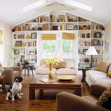 Freshen Your Living Room #vaultedceilingdecor