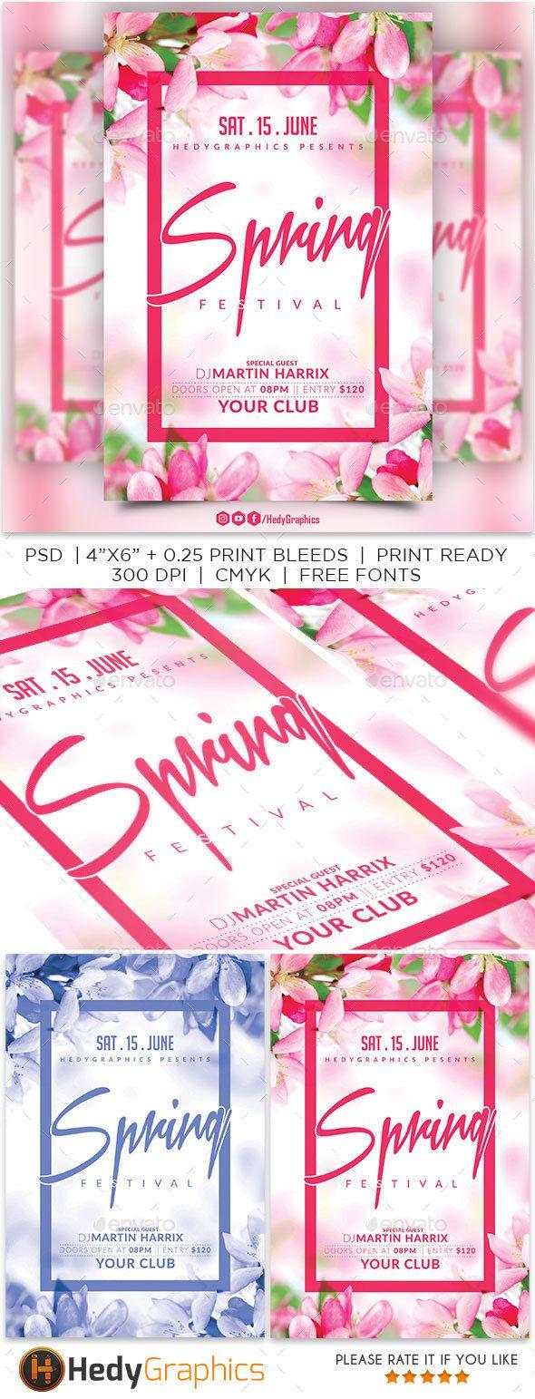Spring Festival Flyer Template Pinterest Flyer Template Event