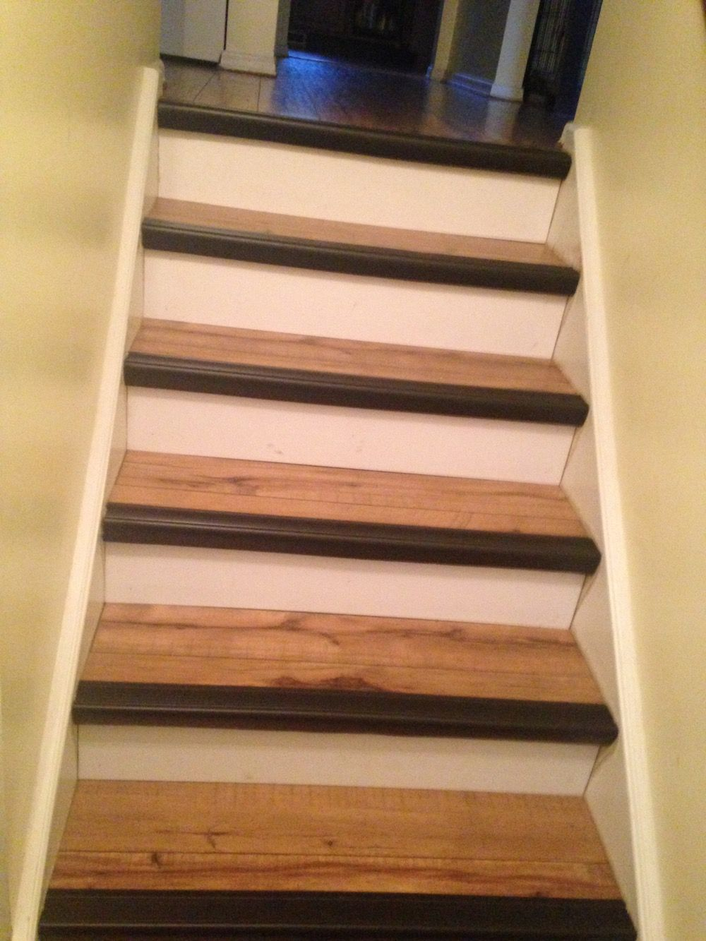 Rubber mats for stairs - Contrast Stair Nosing Makes Steps Safer And Looks Stylish Which Contrasting Color Would