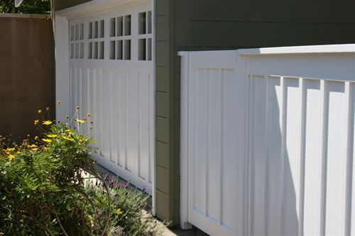 White Painted Wood Privacy Fence House