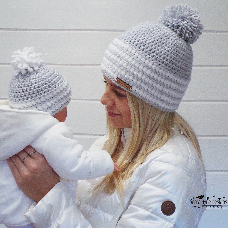 Dinky Dot Hat Crochet pattern Baby Hat Crochet Pattern - Newborn Hat ...