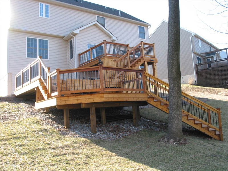 Multi Level Deck Backyard Ideas Mom Pinterest