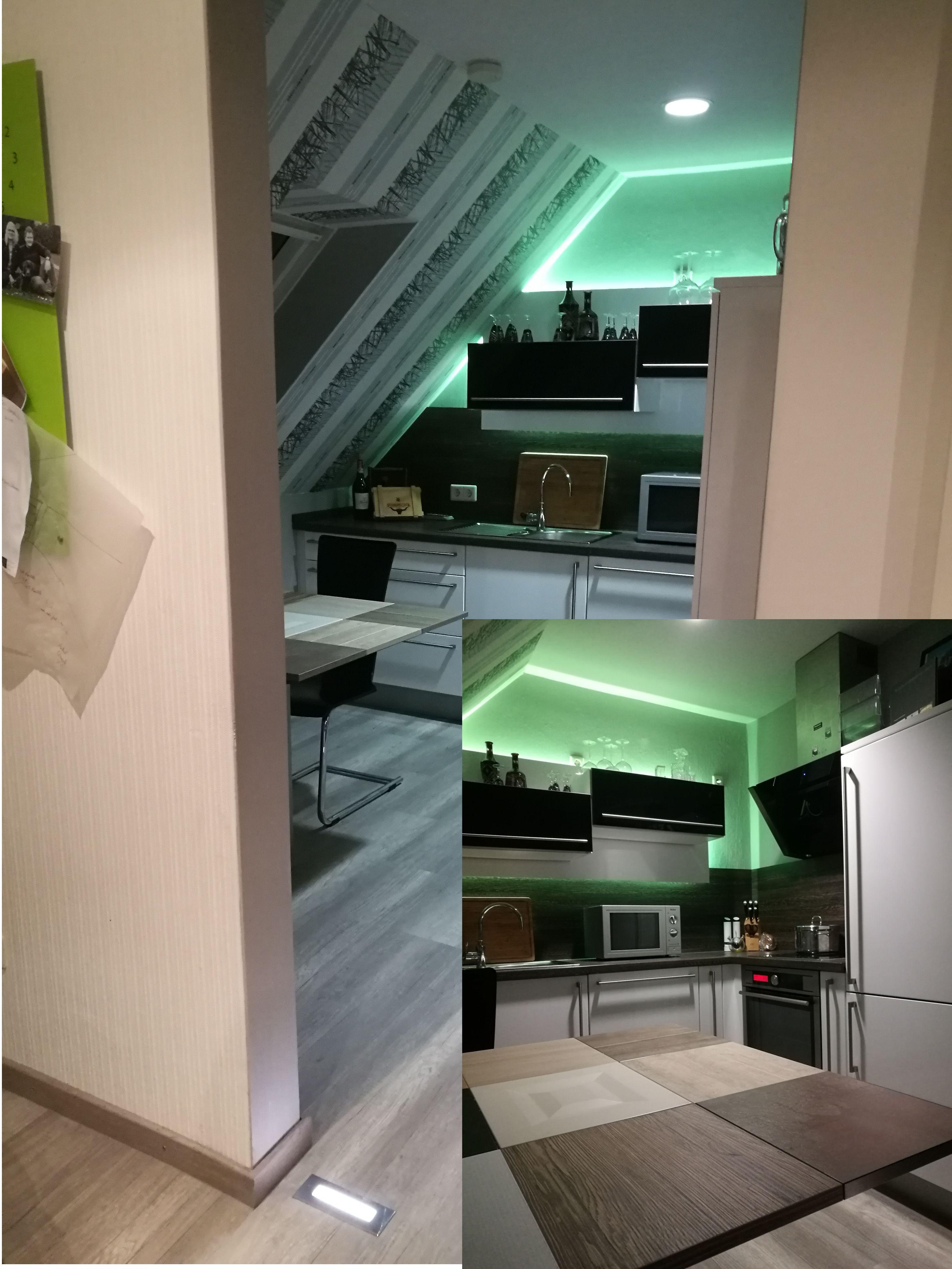kleine zimmerrenovierung kuche kucheninsel idee kleine, kleine küche, viel licht, neue ideen. nach diesem motto wurde nicht, Innenarchitektur