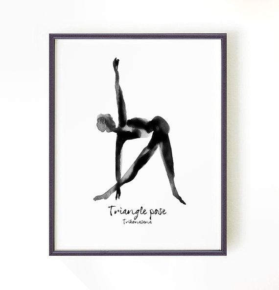 Black And White Yoga Posters