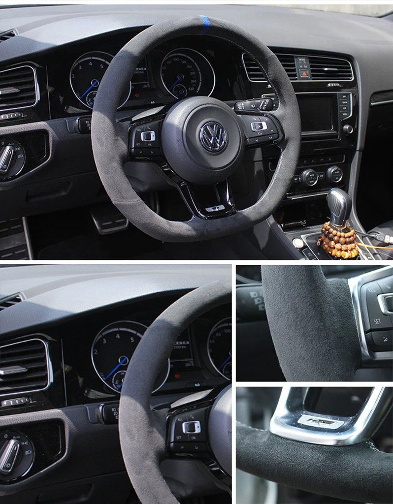 Vw Golf 4 Interieur Onderdelen Synthetic Cashmere Steering Wheel Cover For Volkswagen Golf 6 7 Mk