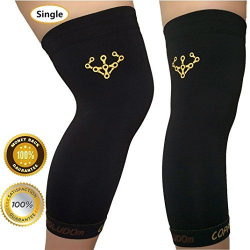 a0e8c9ba19 Roludom Copper Knee Brace Both Women Men Compression Fit Support GUARANTEED  Recovery Sleeve 88 top quality copper content PROTECT your muscles and  bones ...