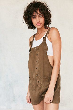 030ef7e0c9 BDG Andy Button-Front Tie-Strap Dungarees