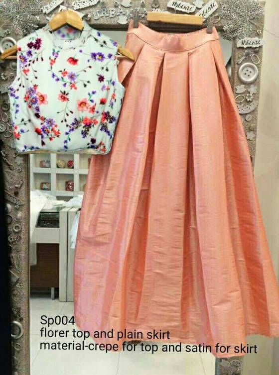 a3afb22c5a6 Shopo.in : Buy Florer Top And Long Skirt online at best price in New ...