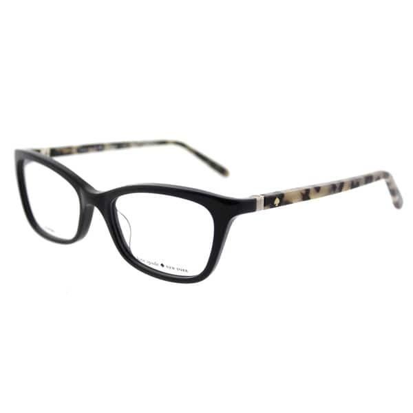 083ea6874d Kate Spade KS Delacy 7KI Black Havana Plastic 52-millimeter Cat-eye  Eyeglasses