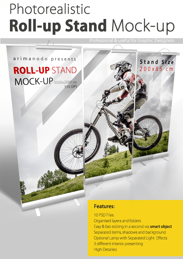 Download 6 Free Rollup Banners Mockup Psd Templates 29 August 2015 Free Pik Psd Rollup Banner Banner Stands Rollup Banner Design