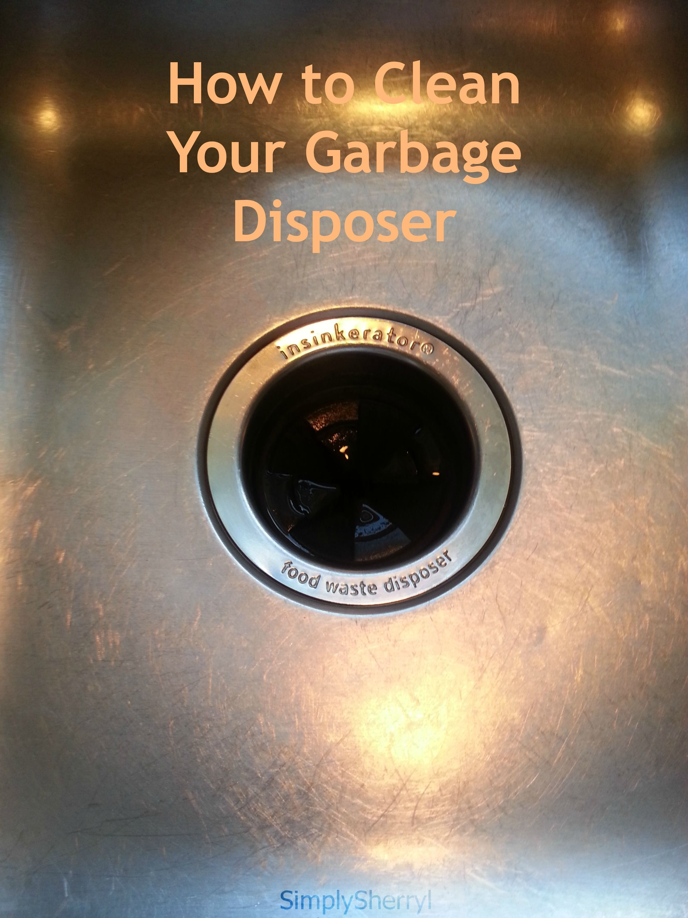 How to Clean Your Garbage Disposer | SimplySherryl by ...