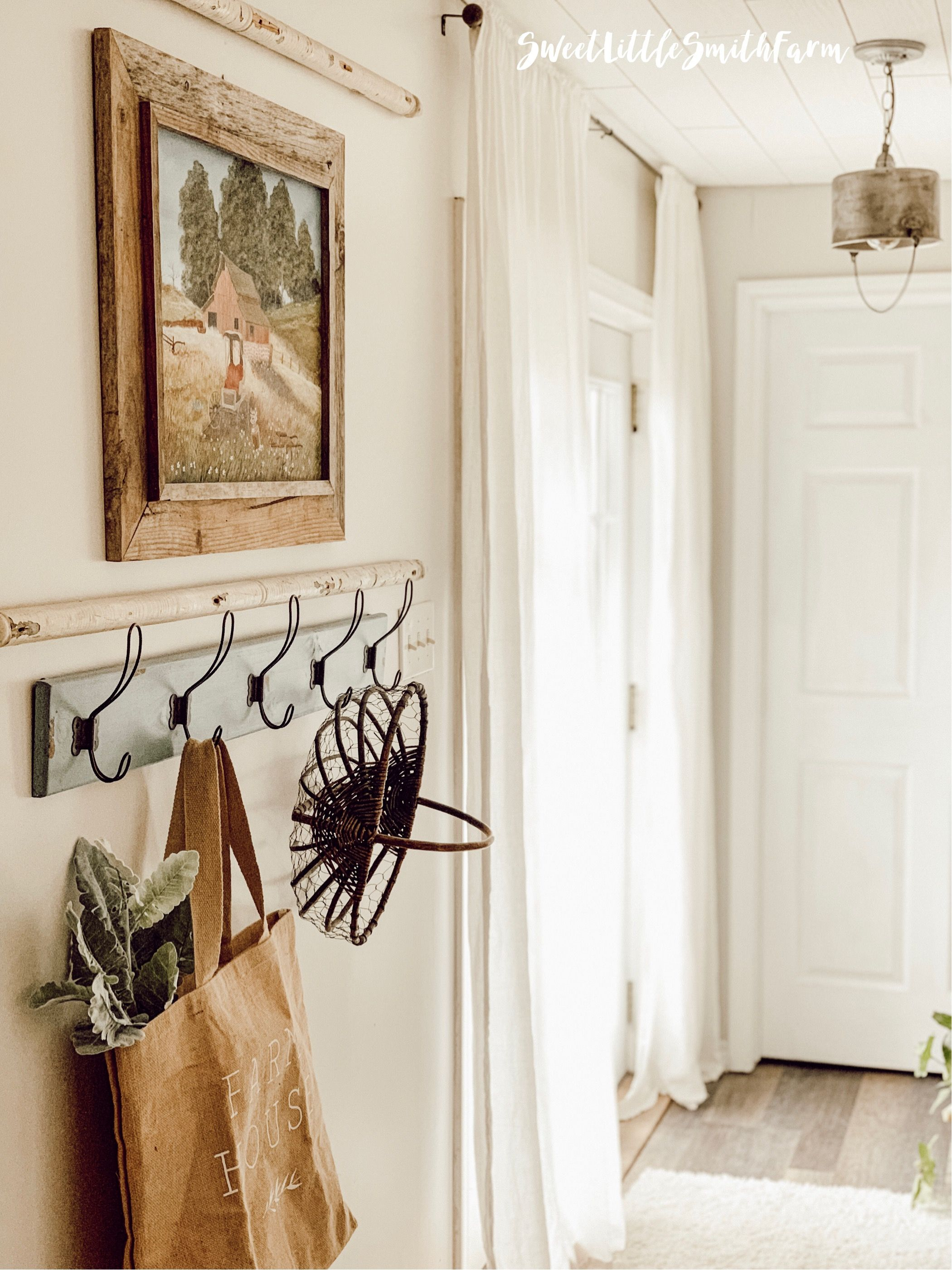 Farmhouse Wall Decor With Hooks