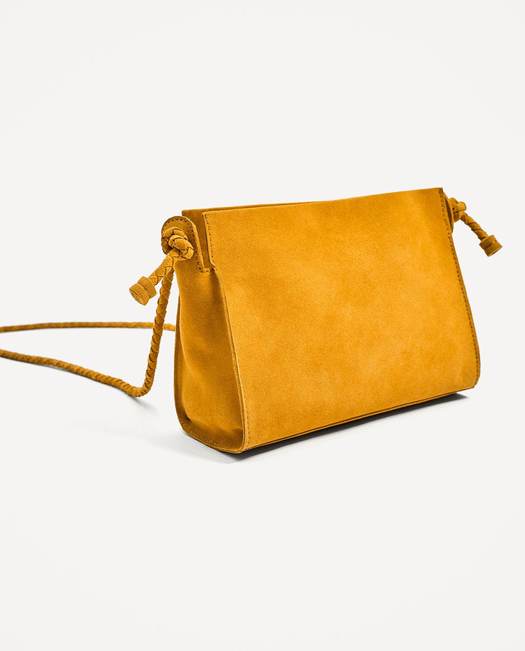 57df258fbc76 Image 1 of SPLIT SUEDE CROSSBODY BAG from Zara
