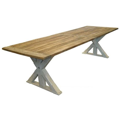MARTHA French Provincial Dining Table - Antique White & Weathered $3400