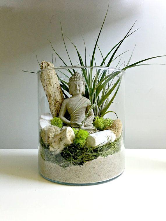 Large Air Plant Terrarium Glass Vase Living Decor Diy Kit Gift