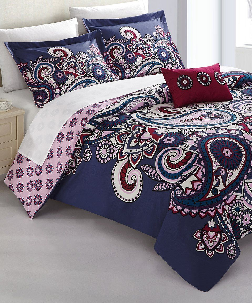 Take A Look At This Blue Paisley Bagwis Reversible Comforter Set Today Comforter Sets Duvet Sets Reversible Bedding