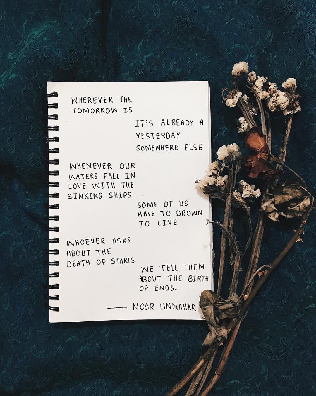 poetry by Noor Unnahar // words quotes writing handwritten